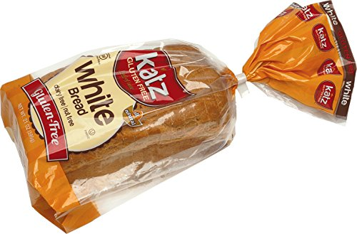 Katz Gluten Free White Bread, 21 Ounce, Certified Gluten Free - Kosher - Dairy & Nut free - (Pack of 6)