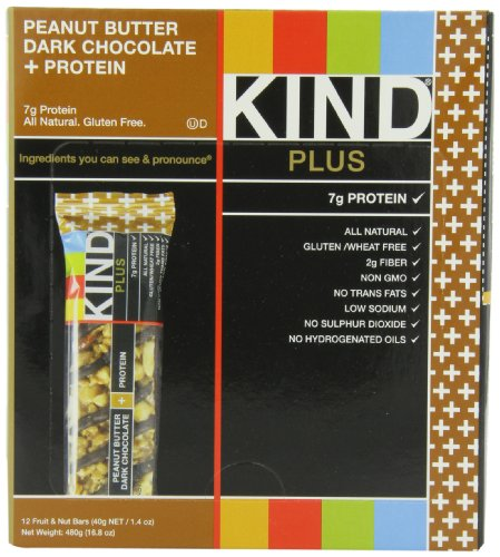 KIND PLUS, Peanut Butter Dark Chocolate + Protein,