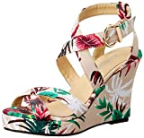 Carlton London Women's Magdalene Multicolor Fashion Sandals - 5 UK/India (38 EU)(CLL-3296)