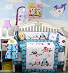 SoHo Lavender Owls Party Baby Crib Nu...