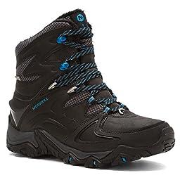 Merrell Women\'s Polarand 8 Waterproof Winter Boot, Black, 9.5 M US