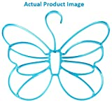 1 Piece Butterfly Shape Translucent Plastic Hanger for Scarf, Belts, Ties and More (Blue)