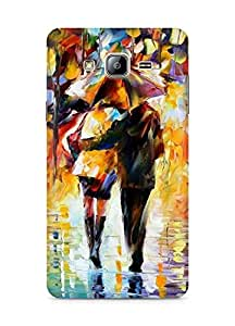 Amez designer printed 3d premium high quality back case cover for Samsung Galaxy ON5 (Raining Painting)