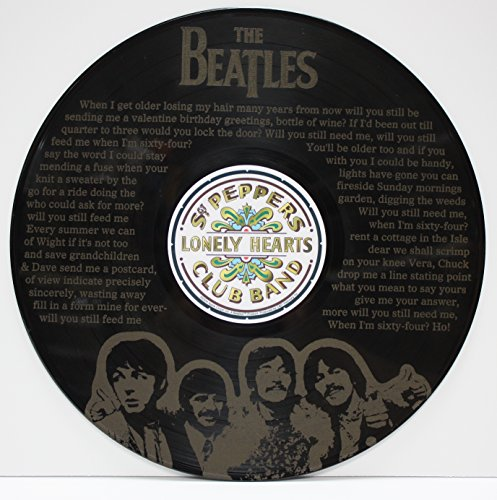 Beatles Vinyl LP Record Wall Art
