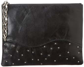 Lauren Merkin Winnie Pouch Clutch,Black,One Size