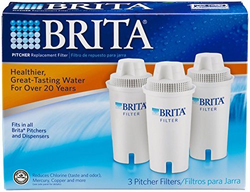 3 brita pitcher replacement water filter cartridges fits all brita pitchers hjbfkdgjkm. Black Bedroom Furniture Sets. Home Design Ideas