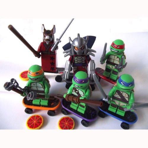 6 Sets Minifigures Building Toys Teenage Mutant Ninjago Ninja Turtles Souptoys