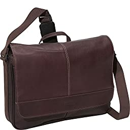 Kenneth Cole Reaction Columbian Leather Messenger Bag in Brown