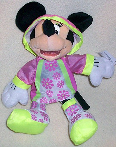 "6"" Plush Disney Minnie Mouse in Rain Coat Doll Toy"