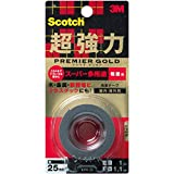 3M スコッチ 超強力両面テープ プレミアゴールド スーパー多用途 粗面用 25mm×1m KPR-25