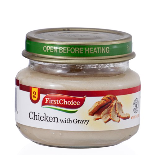 First Choice Baby Food Chicken with Gravy Stage 2 2.5oz (Pack of 12) - 1