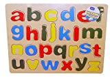 Childrens Kids Learning Wooden 123 Numbers Puzzle Toys or ABC Letters Alphabet
