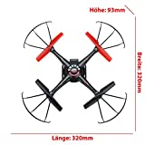 4-Kanal-24GHz-RC-ferngesteuerter-mini-Quadrocopter-PRO-Edition-mit-One-Key-Automatic-Return-und-Headless-Technik-Rotorenschutz-6-axis-Gyro-3D-Loopings-Komplett-Set-inkl-2x-Akku-und-Ersatzteil-Set