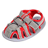 hibote Nueva bebés Prewalker suavemente único cerrados sandalias de punta de velcro