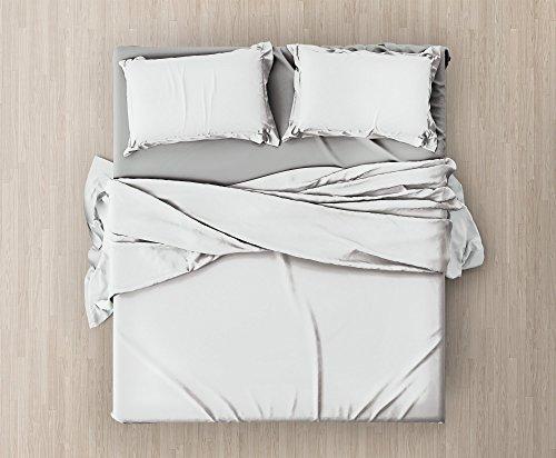 set-completo-di-lenzuola-e-federe-da-letto-matrimoniale-tinta-unitacol-bianco-in-microfibra