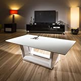 Modern Rectangular Coffee Table / Tables White Glass / Gloss 120x70cm
