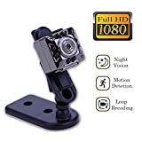 Cainda Super Mini Spy Camera Full HD 1080P with Night Vision and Motion Detection, Super Video Recorder Small Camcorder Sports Camera, Hidden Security