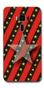 SEI HEI KI Designer Back Cover For Asus Zenfone 3 Deluxe ZS570KL - Multicolor