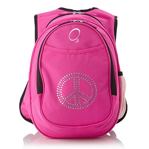 obersee-kids-pre-school-all-in-one-bling-rhinestone-peace-backpack-with-cooler