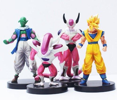 [4pcs/set Dragon Ball Z Freezer Freeza Piccolo Goku PVC Figure Action Toy] (Dbz Saiyan Armor Costume)
