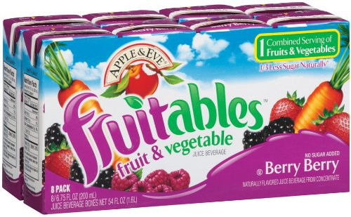 Apple & Eve Fruitables, Berry Berry Juice, 6.75 Ounce, 8 Count (Pack Of 5) front-588908