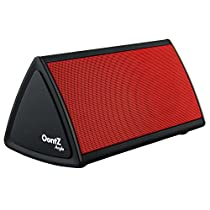 Cambridge SoundWorks OontZ Angle Enhanced Edition Ultra Portable Wireless Bluetooth Speaker with up to 12 Hour Battery Life... Great sound, Surprising Volume and Built in Mic for Handsfree Speakerphone... The Perfect Speaker for your: iPhone, iPad, Samsung, Android smartphones, mp3 players and tablets... Matte Black with Red Grille