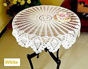 Guchina Tablecloths Crochet Round Table Cover
