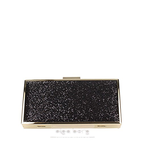 Olga Berg OB1635 Borse Accessori Plastic Sequins Black Black TU