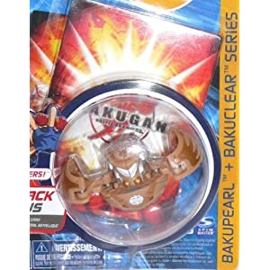 Bakugan Bakupearl Bakuclear Brown Monarus w/ random ability card and gate card