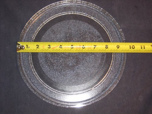9 5/8'' Microwave Glass Plate Turntable Replacement Spare Part (would fit many: Kenmore LG GE Sharp Philips Galaxy Whirlpool Goldstar Ewave Panasonic Jenn-air Fridgidaire Sunbeam Ewave Amana) (Oven Spare Parts compare prices)