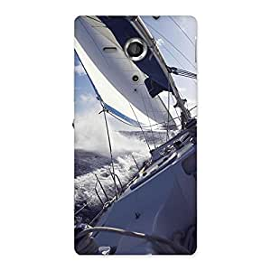 Cute Floating Boat Back Case Cover for Sony Xperia SP