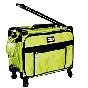 "Tutto Small Machine On Wheels 17"" Lime Small Carry-On Size"