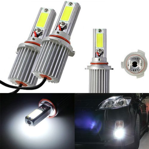 Ijdmtoy Extremely Bright Hid Equivalent 6000K Oem Xenon White 20W High Power 9005 9006 H10 9145 Led Bulbs Upgrading Kit For Headlights Or Fog Lights
