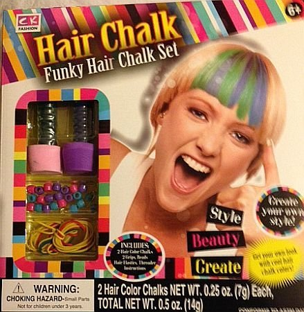 Funky Hair Chalk Set - Create Your Own Style - Plus Accessories