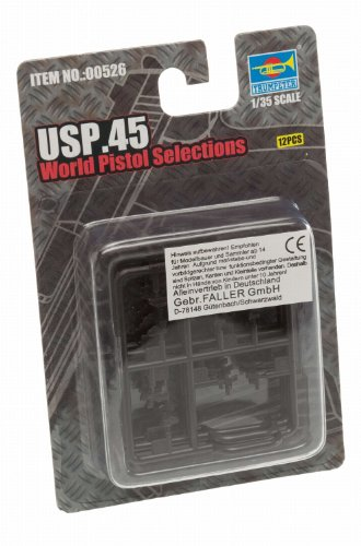 Trumpeter USP.45 World Pistols, Scale 1/35, 16-Pack