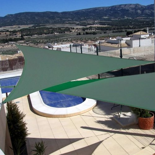 Idirectmart triangle sun shade sail 16 feet 5 inches for Shade sail cost