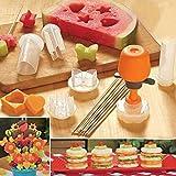 Anokay-Taglierine-Formine-per-Frutta-e-Verdure-per-Decorazioni-di-Torte-alla-Frutta-o-Insalata-di-Verdure-Set-Accessori-Cucina-Fai-da-Te-per-Divertire-coi-Bambini