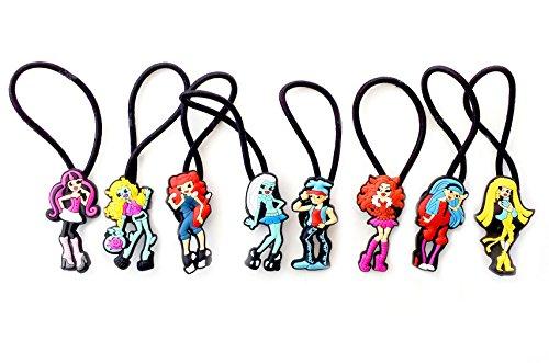 AVIRGO 8 pcs Elastic Hair Bands Hairband Hairbands Ponytail Holders Set # 77-5