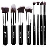 [Updated Version] BESTOPE Makeup Brushes Premium Makeup Brush Set Synthetic Kabuki Makeup Foundation Eyeliner Blush Contour Brushes for Powder Cream Concealer Brush Kit(8PCs, Black Sliver)