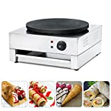 Crepe Maker Machine Pancake Griddle,Angelwill Non-stick Commercial Electric Crepe Machine Single Plate Snack Machine Electric Hot Plate 110v