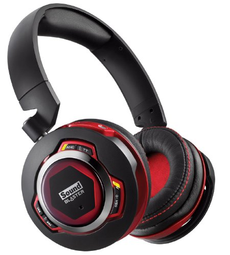 Creative Sound Blaster Evo Zxr - Headset - Full Size - Wireless - Bluetooth - Active Noise Cancelling