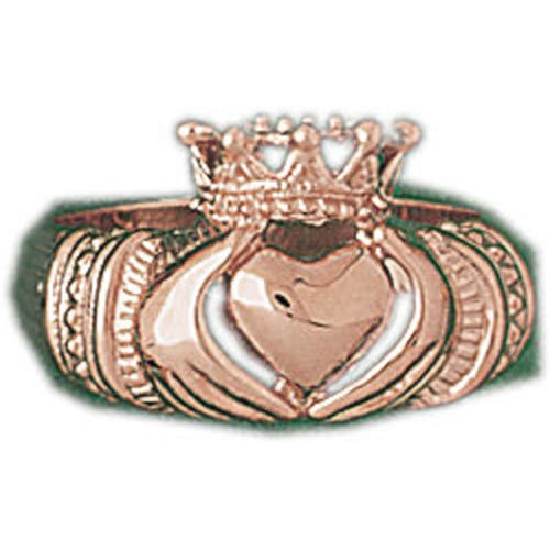 Ring Obsession'S 14K Rose Gold Crown Dome Ring - 5.44 Grams
