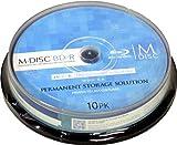 M-DISC 1000年保存可能なBD-R 4倍速 インクジェットプリンタ対応(ホワイト) ポットケース入り 10枚