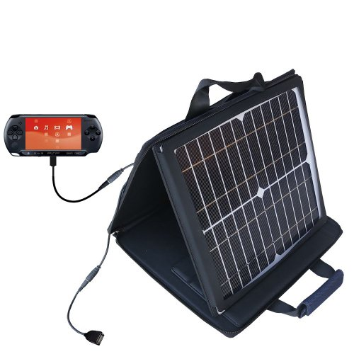 Sony Psp Compatible Sunvolt Portable High Power Solar Charger By Gomadic - Outlet- Speed Charge For Multiple Gadgets