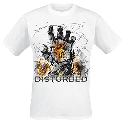 Disturbed Smolder T-Shirt bianco S