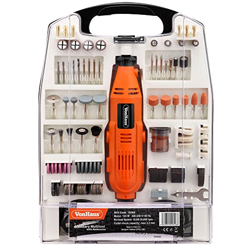 51%2BHjVGfjlL - BEST BUY #1 VonHaus 234pc 135w Rotary Power Multitool Free 2 Year Warranty Craft DIY Multi Purpose Tool Combitool Accessory Kit - Dremel Compatible - Variable Speeds