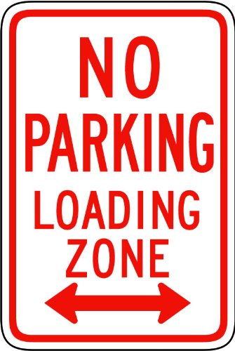 Street & Traffic Sign Wall Decals - No Parking Loading Zone Sign - 12 Inch Removable Graphic front-1036087