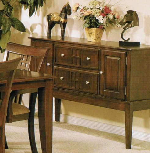 Cheap Server Sideboard with Storage Drawers – Brown Finish (VF_F6045)