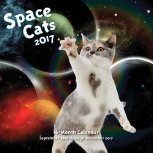 Space Cats 2017: 16-Month Calendar September 2016 through December 2017
