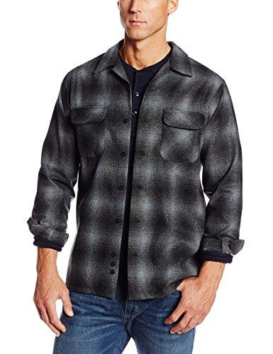 Pendleton Men's Big-Tall Board Shirt, Charcoal/Black Ombre,